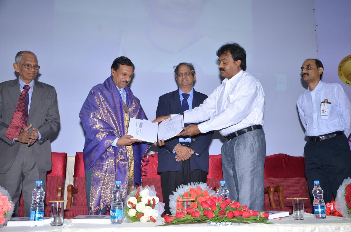 Bhavani Shankar Kodali with Vice Chancellor of Ramachandra University