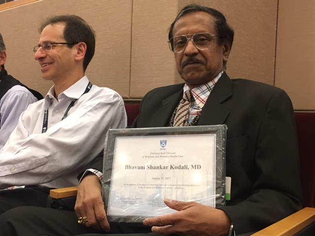 Bhavani Shankar Kodali MD - Distinguished Clinician Award